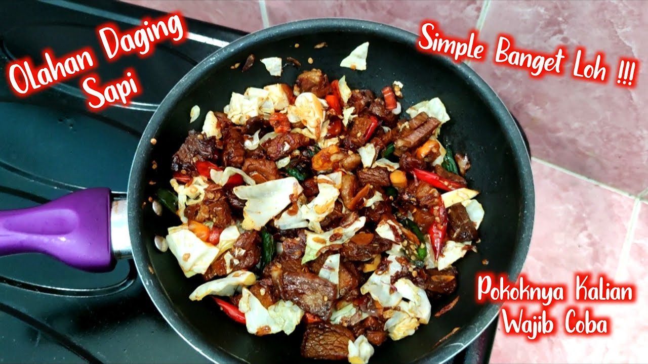 RESEP TUMIS DAGING SAPI SUPER SIMPLE