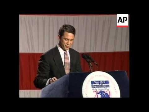 USA: RICK LAZIO ACCEPTS NEW YORK REPUBLICAN NOMINATION