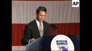 USA: RICK LAZIO ACCEPTS NEW YORK REPUBLICAN NOMINATION