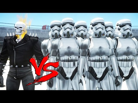 GHOST RIDER vs STORMTROOPER ARMY