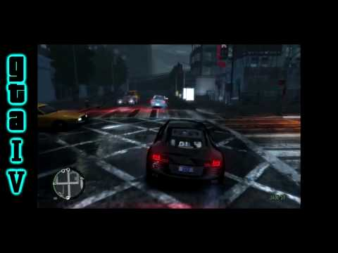 Grand Theft Auto IV PC  -  Audi R8 Le Mans Quattro Gameplay  -  High Definition Gaming