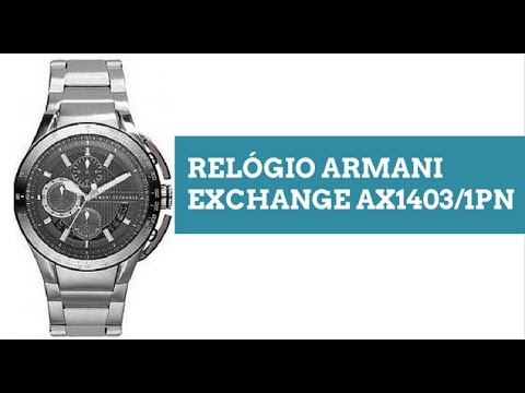 9c01137c886 Relogio Armani Exchange AX14031PN - YouTube