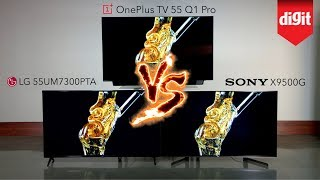 Tested! OnePlus TV 55 Q1 Pro vs Sony X9500G vs LG 55UM7300PTA