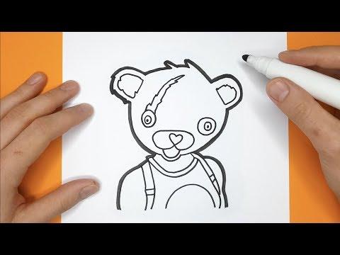 Cómo Dibujar Líder Del Equipo Cariñoso Paso A Paso Fortnite Dibujo