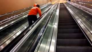 eLearning Brothers running up the down escalator