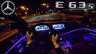 Mercedes AMG E63 S 4Matic 612HP V8 BiTurbo NIGHT DRIVE POV By AutoTopNL