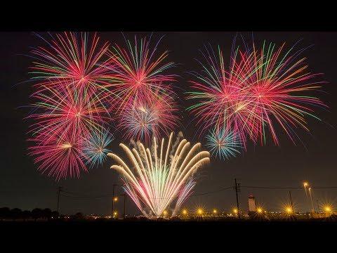 【4K】2017 4th of July Fireworks at Yokota Air Base, Japan