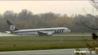 Polish Plane Crash Lands At Warsaw Airport