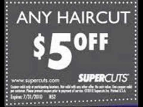 Discount coupons for haircuts