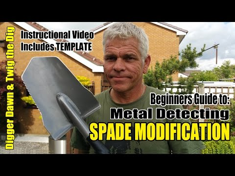 Beginners Guide to Metal Detecting - How to modify a Fiskars spade Instructional video (14)