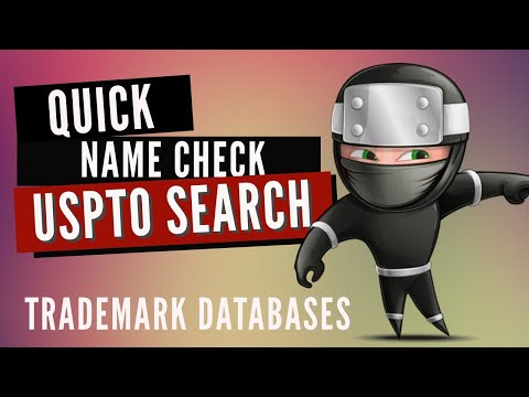 USPTO Trademark Search: Quick name search at the free TESS Database