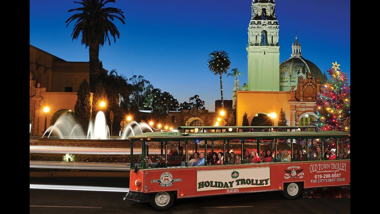 view the best san diego christmas lights with old town trolley - Best Christmas Lights In San Diego