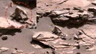 Марсоход Curiosity сделал снимок странного существа