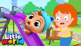 No No Play Safe Song | Fun at the Playground A Nursery Rhyme by Little Angel