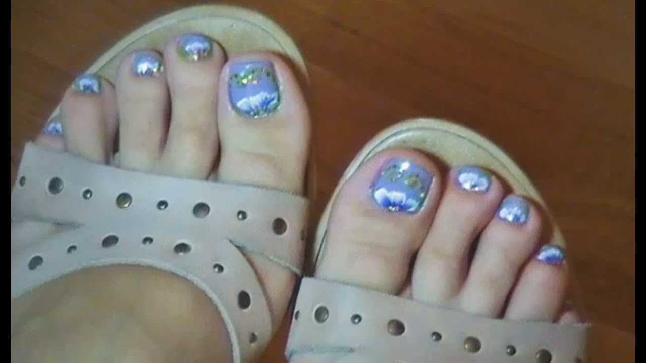 Toenail art tutorial dise o de u as para los pies for Disenos de unas 2012