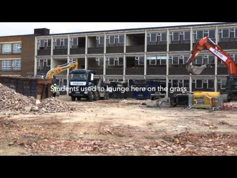 The start of the Demolition of Richmond upon Thames College