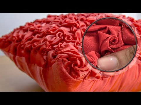 Smocked Roses Design on Fabric: DIY Pillow Tutorial thumbnail