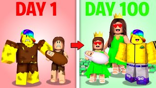 Roblox 100 Days with ORPHAN Family.. 🥺🤩