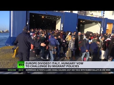 Hungary & Italy vow to stop mass migration, Macron declares himself their main opponent