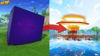 THE CUBE IS MOVING AGAIN... RIP LOOT LAKE?! // New Fortnite Update - Fortnite Battle Royale Gameplay