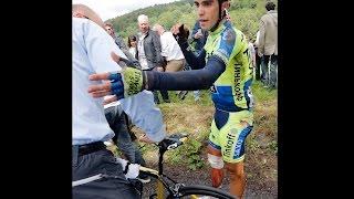 Contador Climbs a Mountain on a Broken Leg