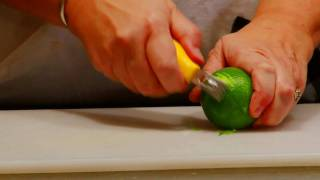 Cooking Tips & Basics : How to Zest a Lime With a Zester