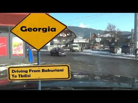 Georgia Trip - Road from Bakuriani to Tbilisi UHD