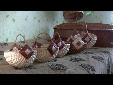 Плетение белорусской корзины из ивового прута