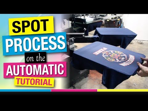 How To Screen Print 6 Color Spot Process Simulated On An Automatic Javelin