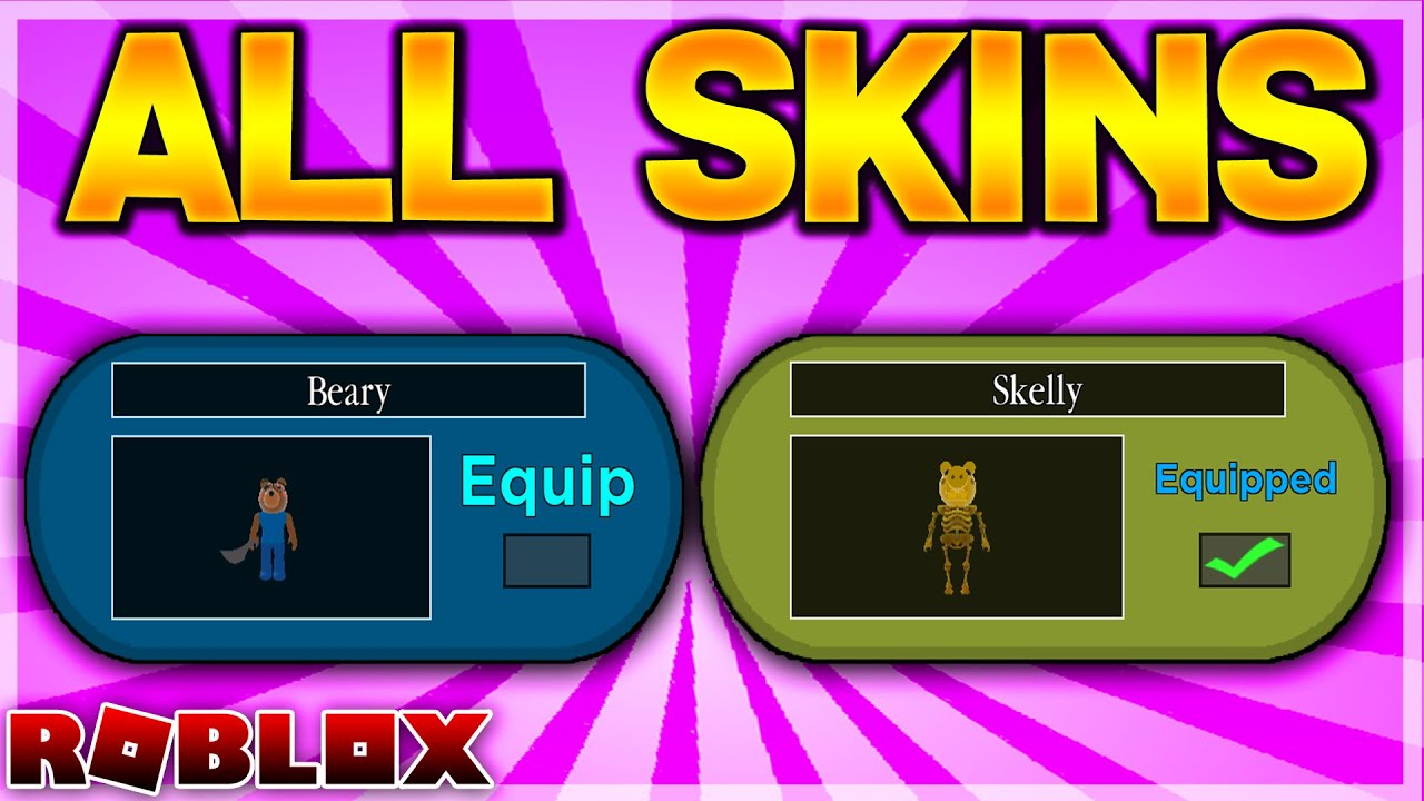 Imagenes De Piggy Roblox Skins All Chapter 6 Piggy Skins Beary Skelly Roblox Piggy Youtube