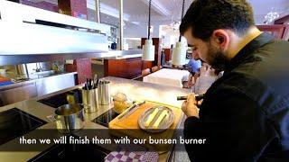 Leek dish the Flemish way by Chef Karen Torosyan at 1 Michelin star restaurant Bozar in Br ...