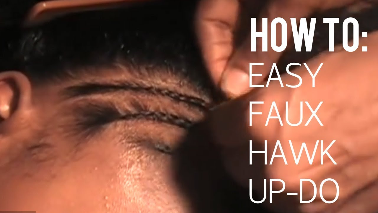 How To Do A Quick Easy Braided Mohawk On Natural Hair Youtube