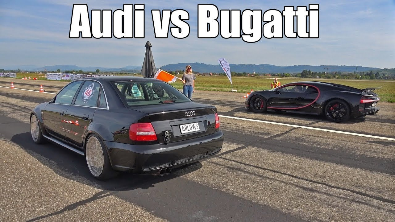 Download Modified Audi S4 B5 1300hp vs Bugatti Chiron 1500hp -Drag Race -The result is absolutely STUNNING!!