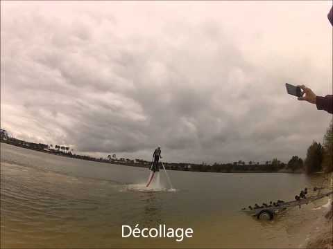Démonstration flyboard zapata racing -Lac de Mios- Gironde