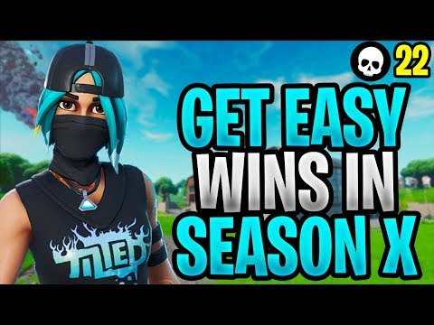 How To EASILY Get Wins In Fortnite Season X! (How To Win - Fortnite Season 10 Tips)
