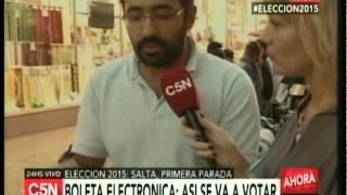C5N -  ELECCIONES 2015: LA VOTACION ELECTRONICA EN SALTA