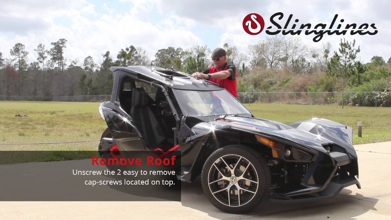 slinglines remove doors roof youtube - Polaris Slingshot Roof