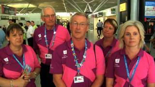 Australian Olympic team fly home from Stansted