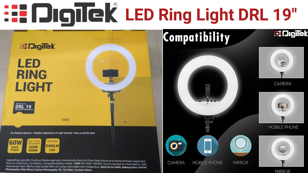 Digitek 19 Professional Big Led Ring Light Unboxing Youtube