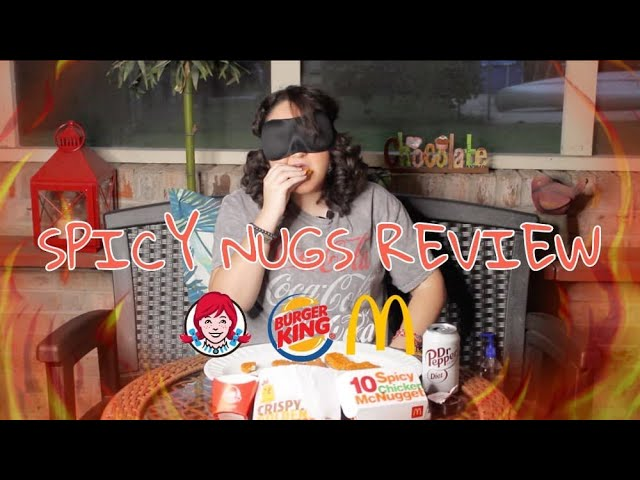 🔥BLINDFOLDED REVIEW: WHO HAS THE BEST SPICY NUGGETS? (McDonald's, Wendy's, Burger King)🔥