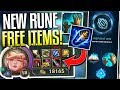 NEW RUNE: FREE ITEMS & MANA POTIONS!! Items You CAN'T Get From Store - League of Legends