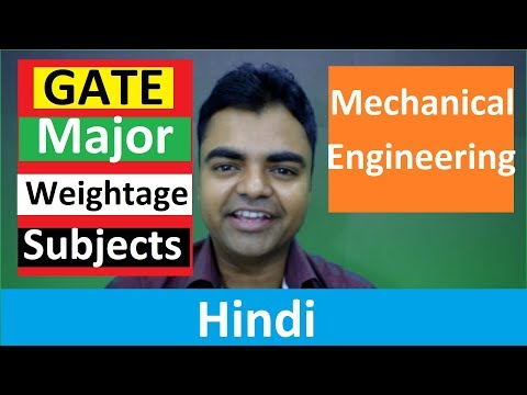 GATE Subject Wise Most Weightage for Mechanical Engineering in Hindi