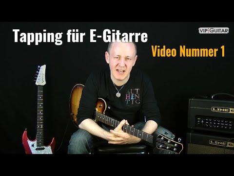 Tapping für E-Gitarre Video Nr.1: die Technik, Spielweise, Sound, Variationen.