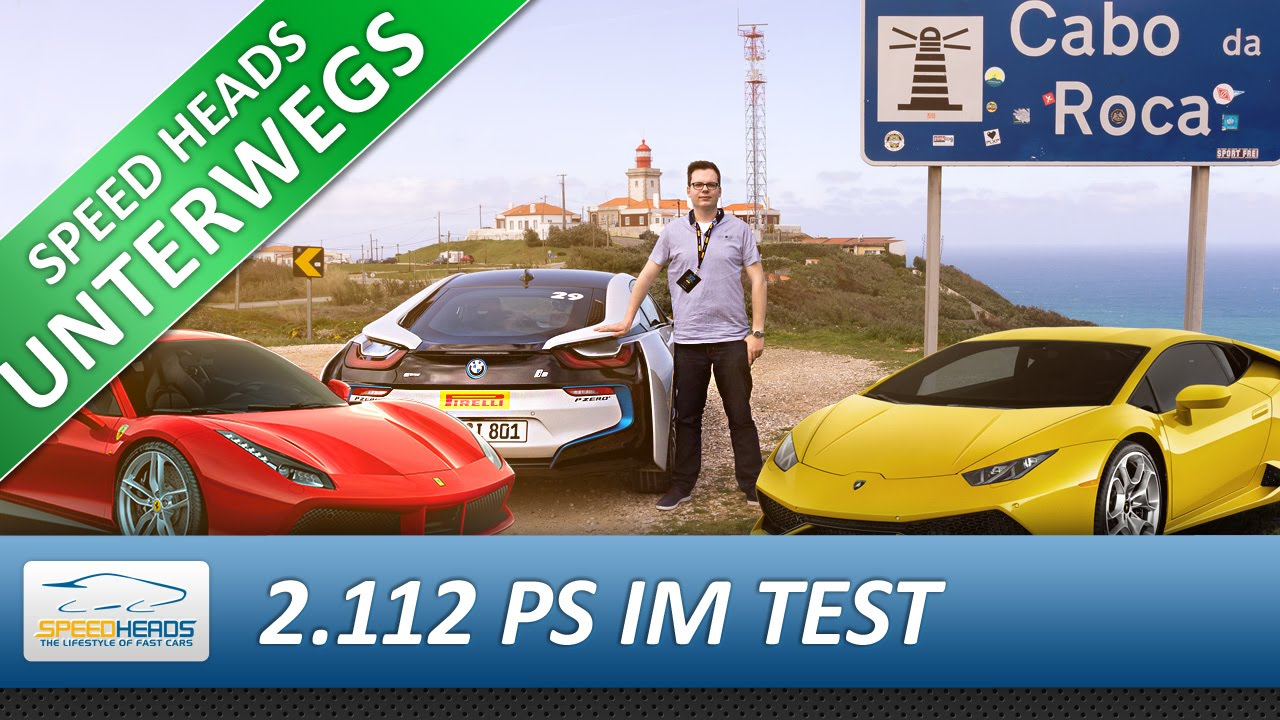 2 222 Ps Supertest Bmw I8 Vs Ferrari 488 Gtb Vs Lamborghini