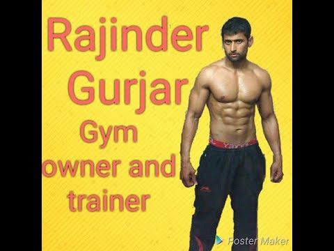 Gurjar / Gujjar boy Mr. Haryana Gym time