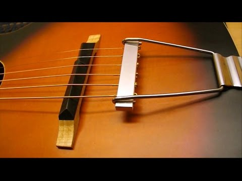 recording king guitar bridge and tailpiece youtube. Black Bedroom Furniture Sets. Home Design Ideas
