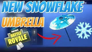 HOW TO GET THE SNOWFLAKE UMBRELLA IN FORTNITE FOR FREE! (Fortnite battle royale)