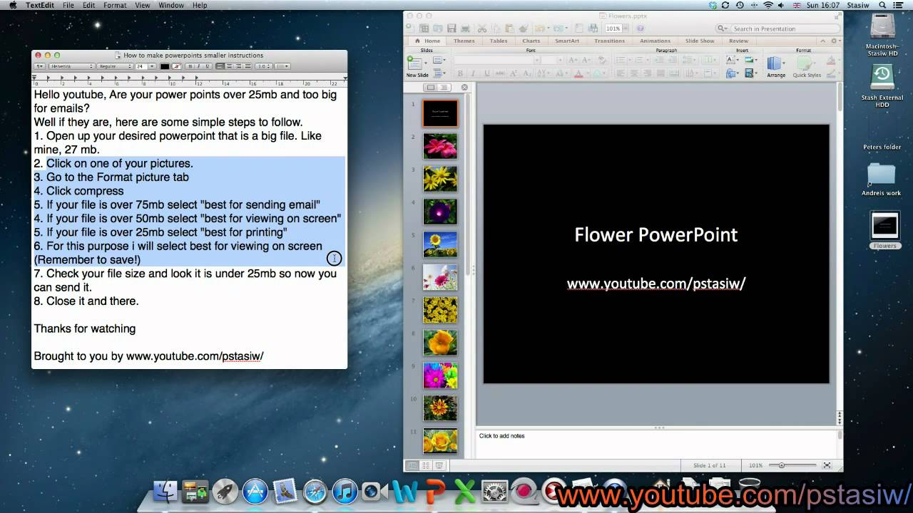 Make powerpoint file size smaller - YouTube