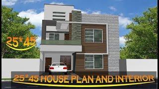 Modern House Interior design Ideas||3BHK House|| 25*45 (East Face) House Plan