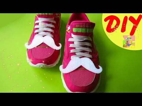 DIY Fun Mustaches for shoes. Усы из фетра для обуви. Декор обуви своими руками. Boots Makeover Easy